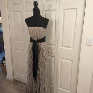 Vera Wang Chiffon Strapless Gown